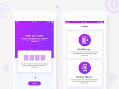 Send Money Apps UI designed by Saad Khan UI/UX. Connect with them on Dribbble; Ui Kit, Apps, Money, Silver, App, Appliques