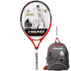 3 Balls 2018 HEAD Novak Junior 19,21,23,25 Tennis Racket