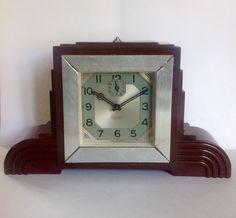 French bakelite Art Deco clock manufactured by Blangy circa 1935