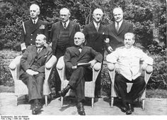 Attlee, Truman, and Stalin at Potsdam Conference, circa 28 Jul to 1 Aug 1945