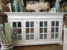 Nantucket cabinet from Cottage Furnishings. Nantucket, cabinet, nautical, beach, beach life, coastal, coastal cool, beach cottage, beach house