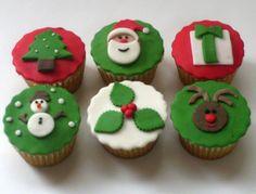Navidad Tradicional. Cupcakes navideños.
