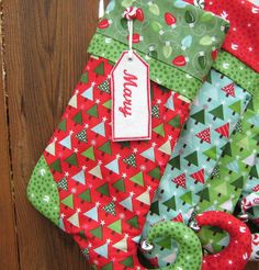 Elf Christmas Stocking Personalized Kate Spain by bungalowquilts, $35.00