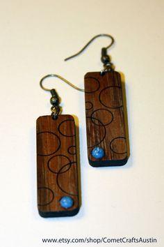 Wood Earrings Bubbles. $15.00, via Etsy.