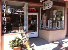 The Stephen Collection. Antiques & vintage collectibles and clock repair. Located at 627 First Street. 707-745-1170.