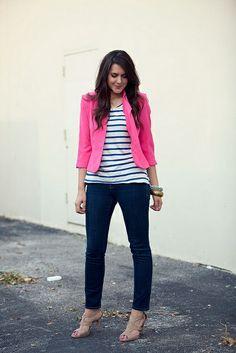 love the hot pink blazer