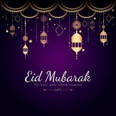 Eid Mubarak card with lanterns pattern background   premium image by rawpixel.com / Sasi Carte Eid Mubarak, Eid Mubarak Wishes, Eid Mubarak Greeting Cards, Eid Mubarak Greetings, Eid Cards, Happy Eid Mubarak, Ramadan Mubarak, Images Eid Mubarak, Eid Mubarak Quotes