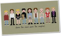 Pixel People Empire Records PDF Crossstitch by weelittlestitches, $9.00