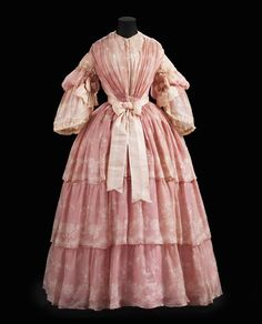 "Dress ca. 1857 From the exhibition ""A Century of Style: Costume and Colour 1800-1899″ at Glasgow Museums"