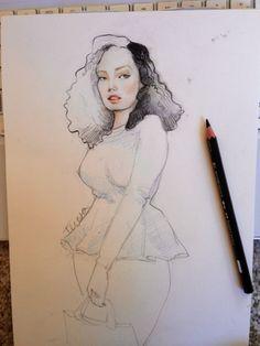 I adore Maria Teresa's fashion illustrations!
