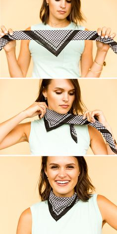 6 DIY Ways to Style a Bandana for Summer How to Style a Square Bandana – The Mini Neck Bib scarf secrets (Visited 6 times, 1 visits today) Bandana Styles, Scarf Styles, Hair Styles, Comment Porter Un Bandana, Bandana Outfit, Bandana Scarf, Bandana Neck Tie, How To Tie Bandana, Ways To Wear Bandanas