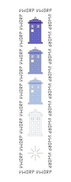 Disappearing TARDIS Bookmark Pattern - Doctor Who. $2.75, via Etsy.