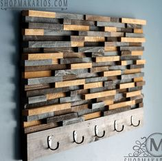 Wood Tile Coat Rack  || $165 for the 2 foot one