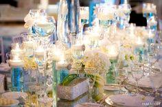 Glamorous Tiffany blue wedding at the Hotel Del Coronado: Reception details | San Diego Wedding Blog