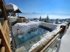 The breathtaking views of the Alps and the Mont-Blanc at Lecrans Hotel & Spa Luxury, Switzerland.