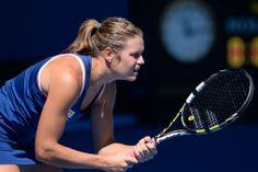 Karin Knapp v Maria Sharapova, 2R, 16 January 2014. - Ben Solomon/Tennis Australia. Australian Open Tennis Championships 2014.