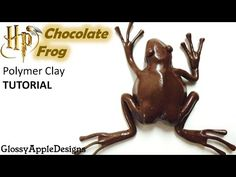 Polymer Clay Harry Potter's Chocolate Frog TUTORIAL - YouTube