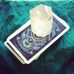 A big chunk of what looks like Selenite to cleanse and charge your Cards.