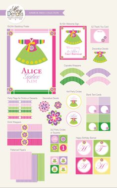 Korean first birthday invitations korean birthdays and baby party korean hanbok dress girl birthday diy party package by maydetails full collection party kit filmwisefo Choice Image