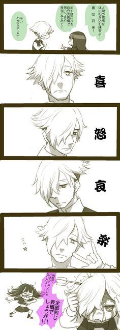 Death Parade fan art comic anime Chiyuki x Decim from Pixiv