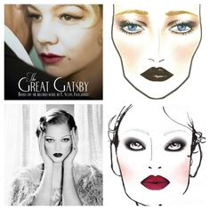 The Gatsby style makeup layout