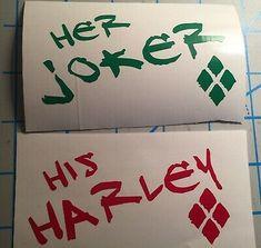 Set of Harley Quinn and Joker Joker And Harley Tattoo, Harley And Joker Love, Joker Y Harley Quinn, Harley Tattoos, Batman Tattoo, Joker Tattoos, Bonnie And Clyde Tattoo, Tatuaje Harley Quinn, Harey Quinn