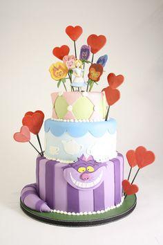 Alice in Wonderland tiered cake by Charm City Cakes #disney #aliceinwonderland
