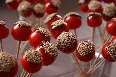 Spiedini di pomodori e sesamo antipasto sfizioso ricetta bicchieri antipasti bouquet