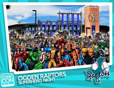 Attention Northern Utah! Salt Lake Comic Con is a proud sponsor of Ogden Raptors Superhero Night on Saturday, August 30 at Lindquist Field in Ogden, Utah. The Ogden Raptors will battle their arch-rivals the Grand Junction Rockies in a ballgame of heroic proportions! The Raptors will take the field in customized superhero jerseys, complete with capes, while we host a superhero costume contest between innings. Contest winners will snag a pair of Multipasses to Salt Lake Comic Con 2014.