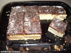 Czech Desserts, No Bake Desserts, Dessert Recipes, Slovak Recipes, Czech Recipes, Eclairs, No Bake Cookies, No Bake Cake, Bien Tasty