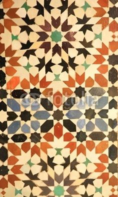 Royal Palace Tiles Marrakech, Morocco North Africa