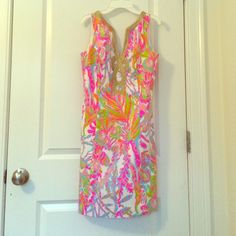 Lilly Pulitzer scuba to Cuba Janice shift NWT beautiful dress I just never get to wear it! No flaws Lilly Pulitzer Dresses