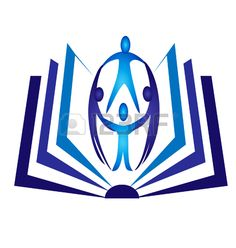 Teamwork open book logo vector