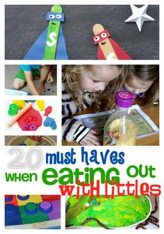 20 must haves eating out with kids