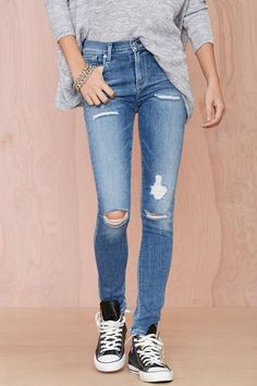 A Gold E Sophie Distressed Skinny Jean | Shop Clothes at Nasty Gal!