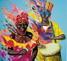 Painting, Draw, Culture, School, Design, Dresses, Costumes, Vestidos, Afro Art