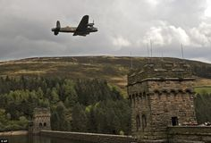 The dam, in the Hope Valley in Derbyshire, was used by the brave airmen for practice runs.     Today, the RAF Battle of Britain Memorial Flight and 617 Squadron will recreate history by flying over the twin towers of the reservoir.     The aircraft will continue on to Chatsworth House to carry out a flypast for members of the public gathered for the historic moment.