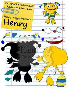 "Plantillas Personajes Actuales Henry ""Monstruito"" Hugglemonster"