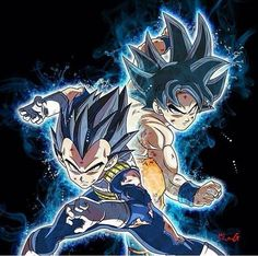 Dragon Ball Super Ultra instinct Goku and Ultra Instinct Vegeta Poster Marvel, Poster Superman, Posters Batman, Dragon Ball Gt, Manga Dragon, Pokemon, Animes Wallpapers, Manga Games, Fan Art