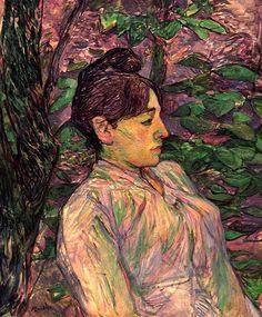 Woman Seated in a Garden / Henri de Toulouse-Lautrec - circa 1891