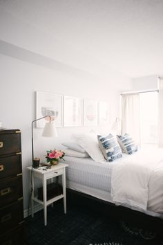 I love this simple, clean bedroom look