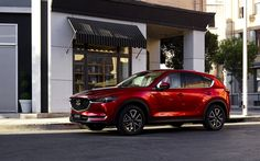 Download wallpapers Mazda CX-5, 2018, 4k, new cars, red CX-5 2018, crossover, Japanese cars, Mazda