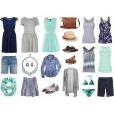 Summer capsule wardrobe - mint, navy & grey