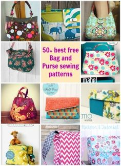 I totally agree - these are 50 of the best free bag and purse sewing patterns. I'll never be able to sew them all!