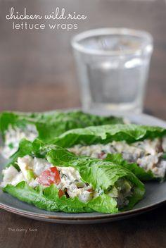 Chicken Wild Rice Lettuce Wraps