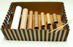 musical instruments with toilet paper tubes | ... tubes we ve been gathering foil tubes cling wrap tubes toilet paper