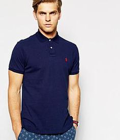 Check out Polo Ralph Lauren Plain Logo Polo In Custom Fit on @grabble
