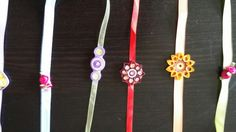 Handmade easy to make rakhi with quilling paper and ribbons