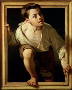 Escaping Criticism, 1874, by Pere Borrell del Caso, oil on canvas, Collection Banco de España, Madrid