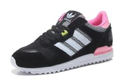 free shipping 5f8d9 992e0 Adidas Original Zx 700 Dyp Rosa Retro for Dame Nubuck Sneaker Svart Sko  393.79kr Los